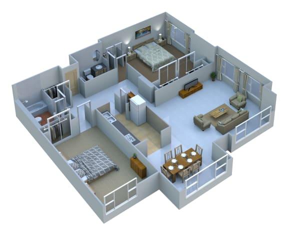 Floor Plan  Large Two Bedroom Two Bath