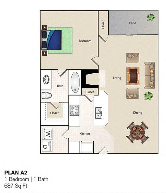 Floor Plan  Soho Apartments 1 Bedroom 1 Bathroom floor plan