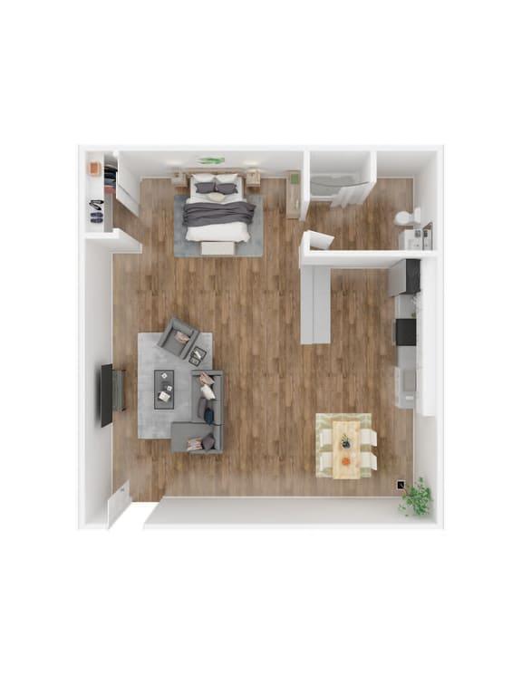 Floor Plan  University Commons studio floorplan image