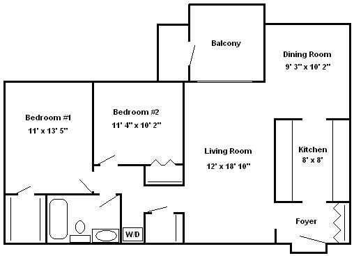 Two Bedroom Apartment Hershey Apartments | Braircrest Gardens Apartments