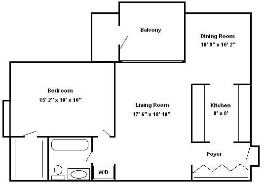 One Bedroom Apt  Hershey Apartments | Braircrest Gardens Apartments
