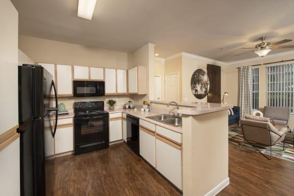 kitchen in northwest houston apartments