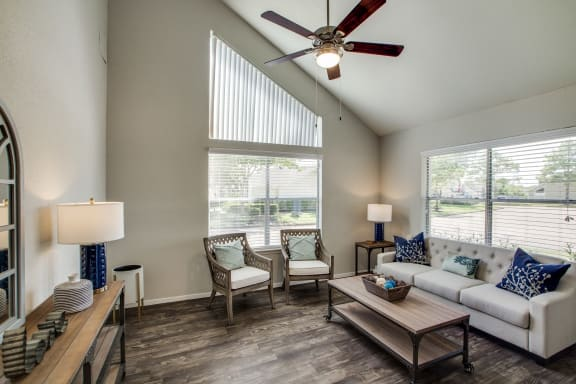 living room in our pearland texas apartment community