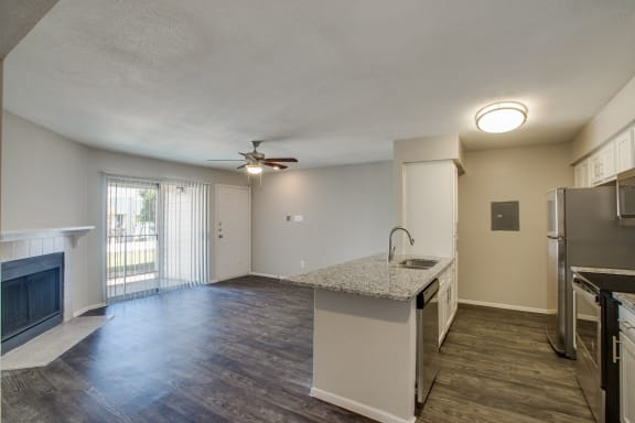 wood style flooring in our pearland texas apartment community