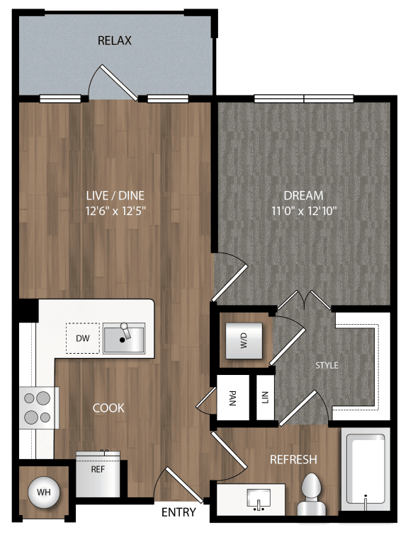 a1 floor plan in midland tx apartments