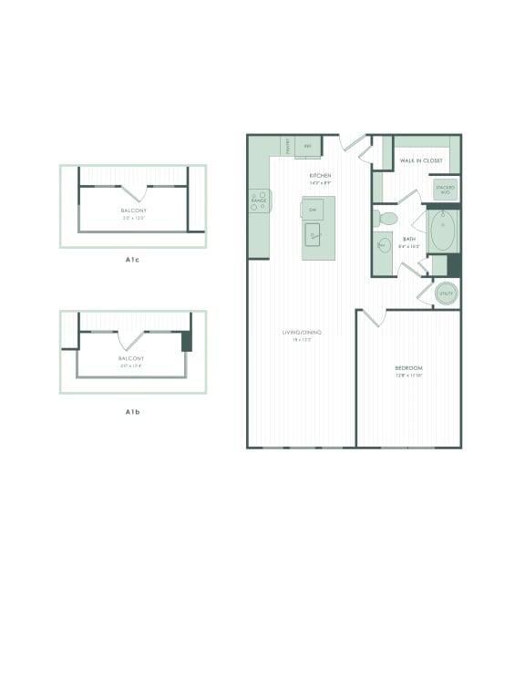Floor Plan  A1b
