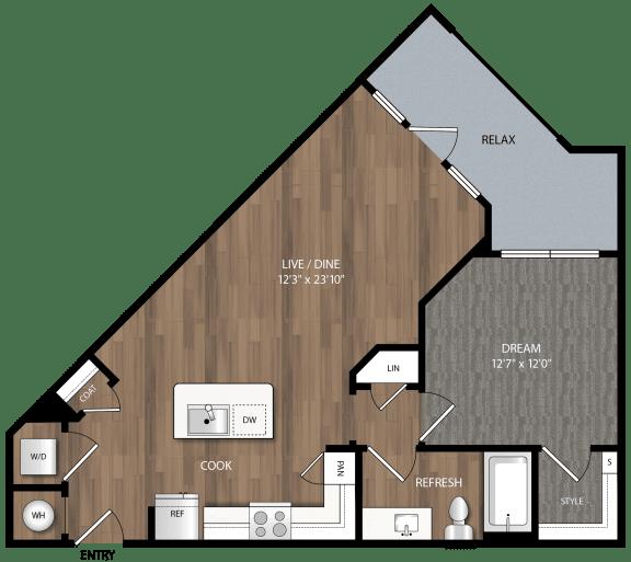 a3 floor plan in midland tx apartments