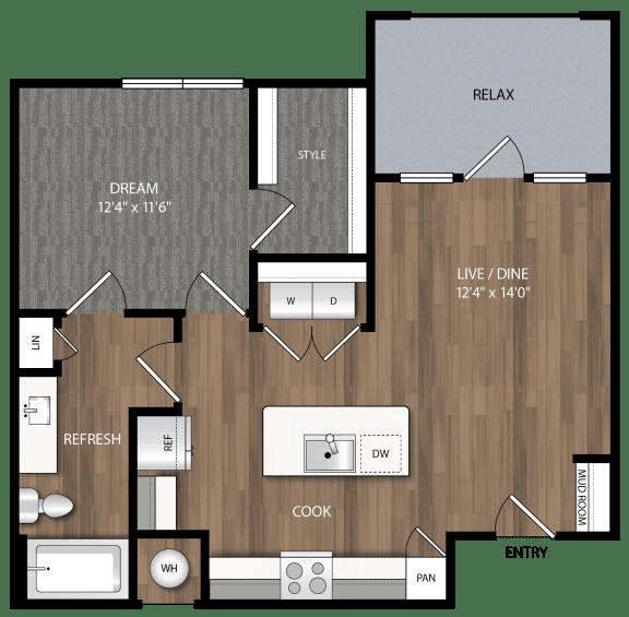 a4 floor plan in midland tx apartments