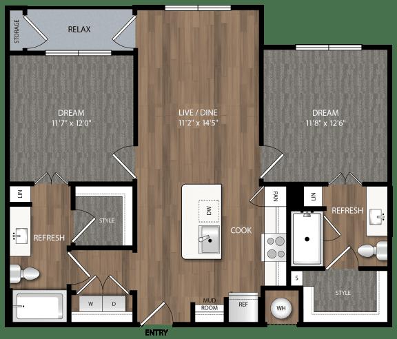 b1 floor plan in midland tx apartments