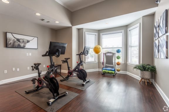 peloton bikes in our apartments in webster tx
