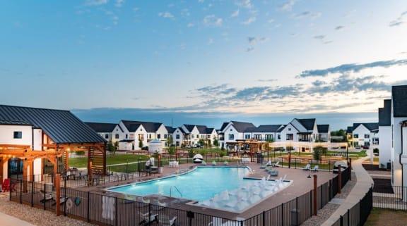 Pool at Hermosa Village, Leander TX
