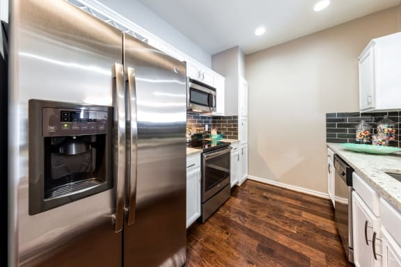 stainless steel appliances in dallas texas apartments