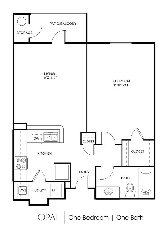 A1C Floor Plan at Elan Apartment Homes, Austin, Texas