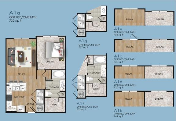 A1 floor plan in houston texas apartments