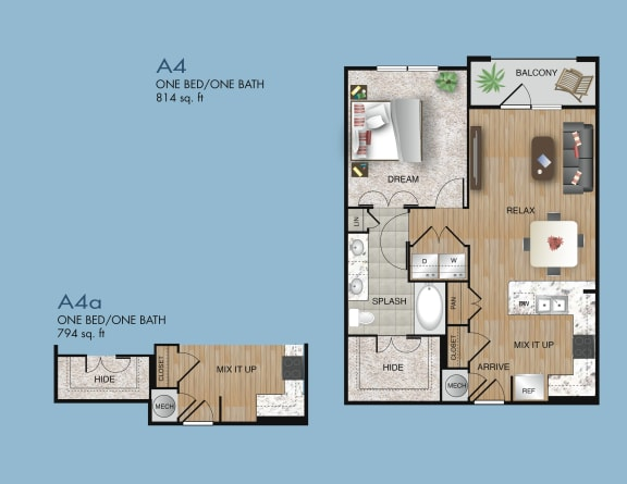one bedroom apartments 77077