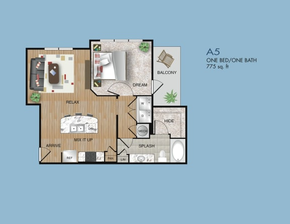 one bedroom apartments near 77077