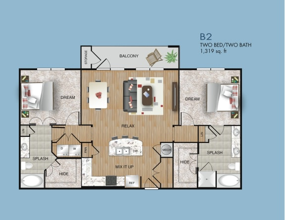 two bedroom apartments near 77077