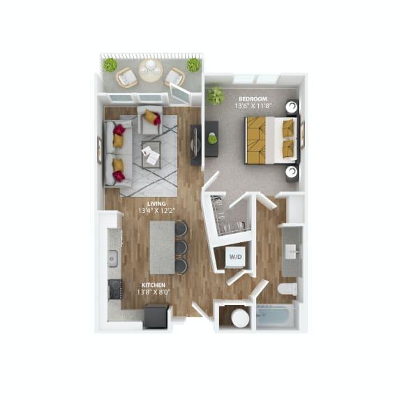 Floor Plan  Studio A1 Floor Plan