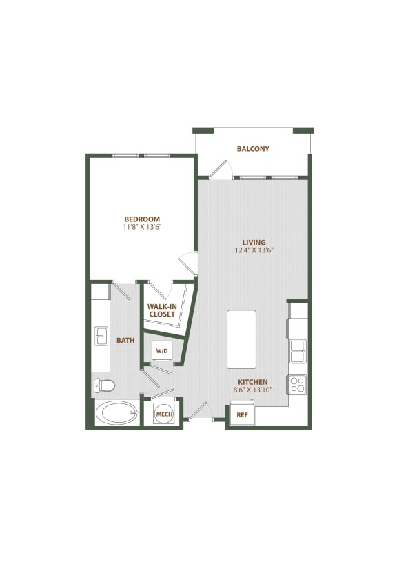 A1 Floor Plan at The Westerly, Winter Garden, FL