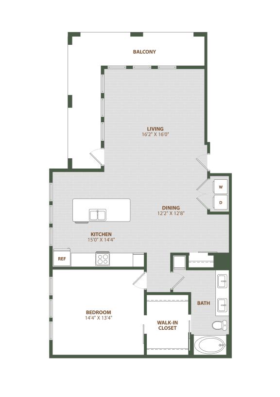 A6 Floor Plan at The Westerly, Florida, 34787
