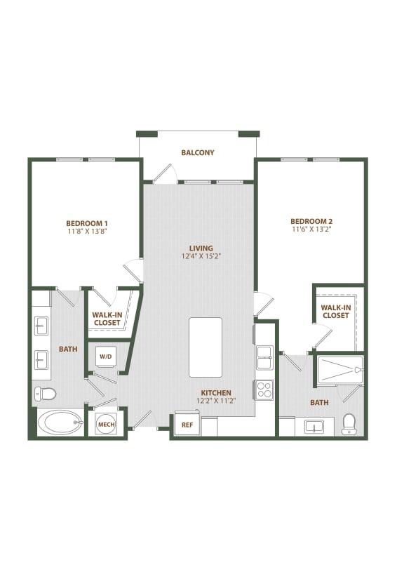 B1 Floor Plan at The Westerly, Winter Garden, FL, 34787
