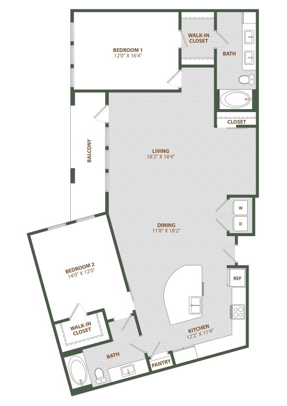 B3 Floor Plan at The Westerly, Winter Garden, 34787