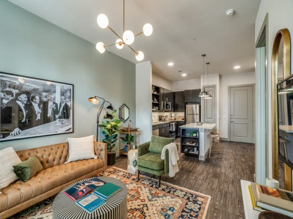 One bedroom model apartment