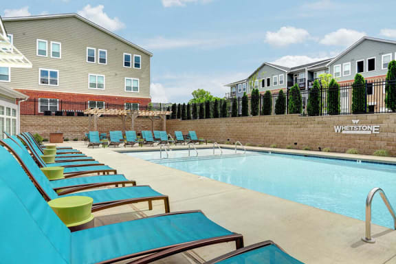 Swimming Pool And Relaxing Area at Whetstone Flats, Nashville, TN