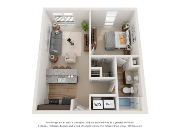 Floor Plan  Dean Floor Plan at 310 @ Nulu Apartments, Louisville, 40202