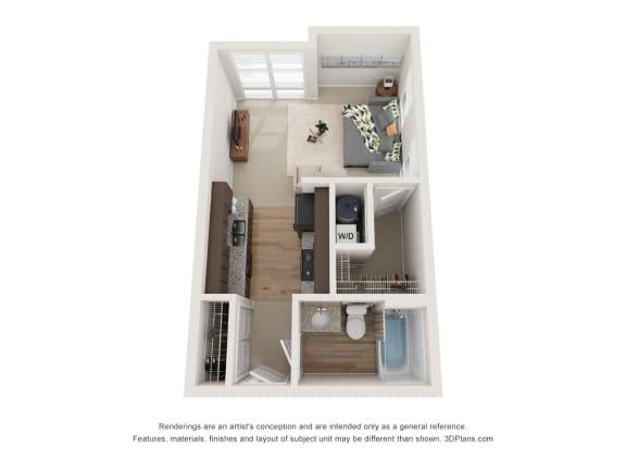 Floor Plan  Hamilton Floor Plan at 310 @ Nulu Apartments, Louisville, KY, 40202