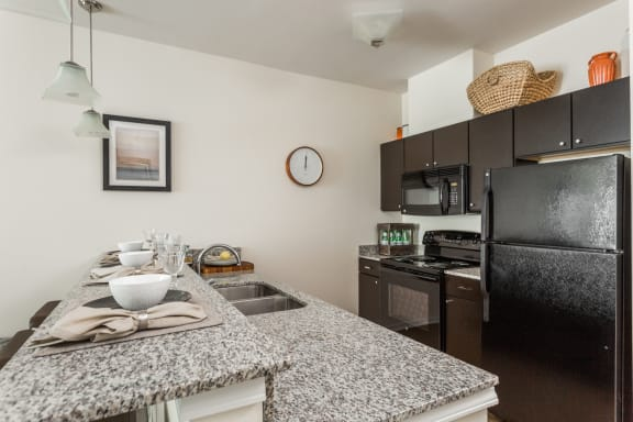 Fully Equipped Kitchen With Modern Appliances at 310 @ Nulu Apartments, Kentucky