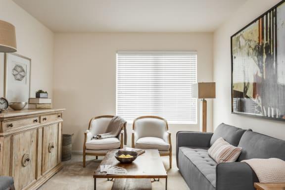 Modern Living Room at 310 @ Nulu Apartments, Louisville, 40202