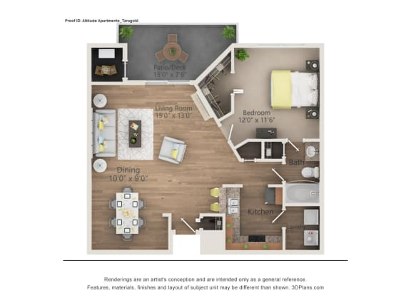Taragold Floor Plan The Altitude Blue Ash, Blue Ash, OH
