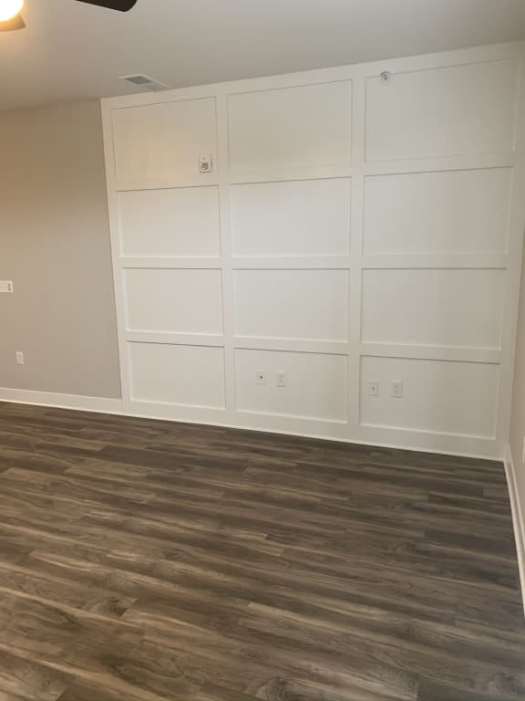 Blueford Floor Plan Living Room with Accent Wall
