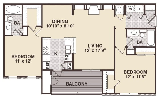 Cambridge Square Floor Plan at Providence at Old Meridian, Carmel
