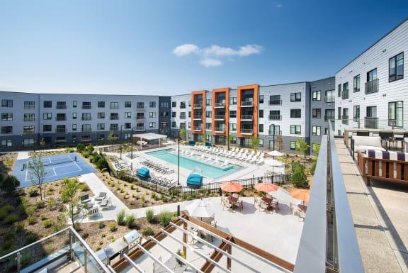 Poolside Relaxing Area at Union Berkley, Kansas City, 64120