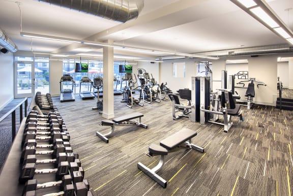Modern Fitness Center at Union Berkley, Missouri