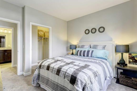 Apartment Master Bedroom at Whetstone Flats, Nashville, TN, 37211