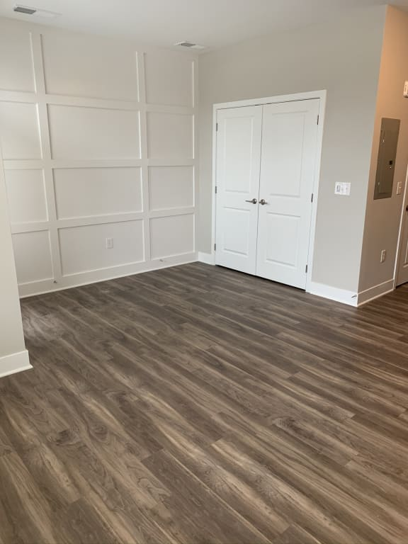 Porco Floor Plan Living Space with Accent Wall