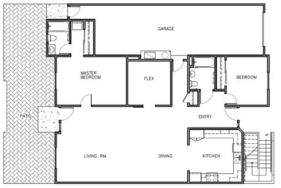 2X2 Floor Plans at Farmstead at Lia Lane in Santa Rosa, CA 94928