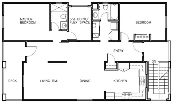 3X2 Floor Plans at Farmstead at Lia Lane in Santa Rosa, CA 94928