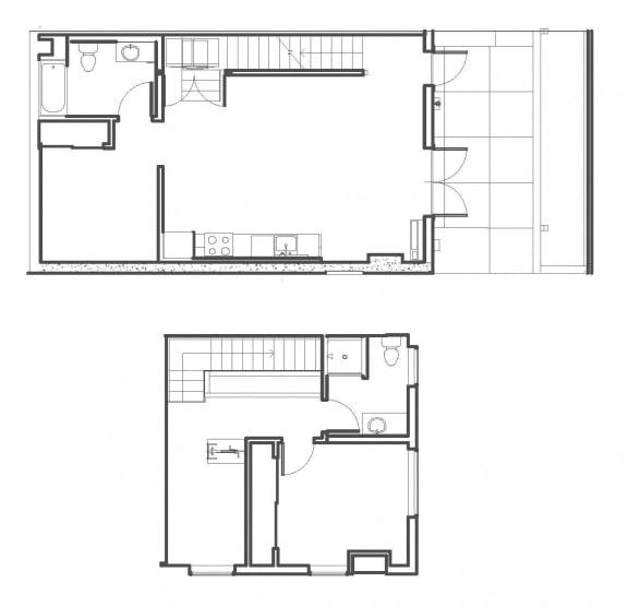 2 Bed - 2 Bath 1236 sq ft floorplan