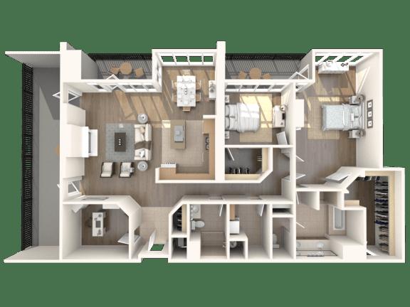 Beverly Hills Penthouse Floorplan