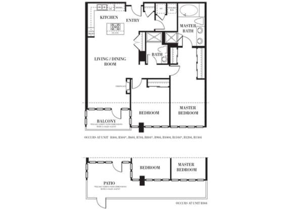 Monterey Floorplan at Astoria at Central Park West Apartments