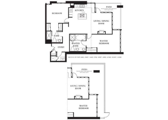San Diego 1  Floorplan at Astoria at Central Park West Apartments