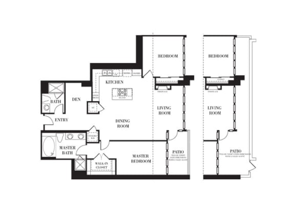 Malibu Floorplan at Astoria at Central Park West Apartments