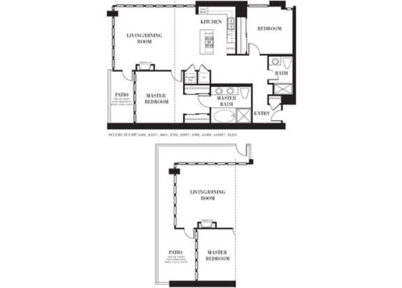 Irvine 1  Floorplan at Astoria at Central Park West Apartments