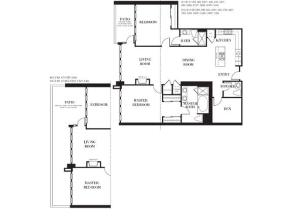 Bel Air Floorplan at Astoria at Central Park West Apartments