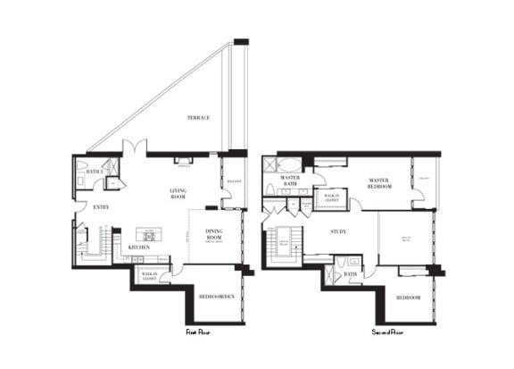 Rockefeller Floorplan at Astoria at Central Park West Apartments