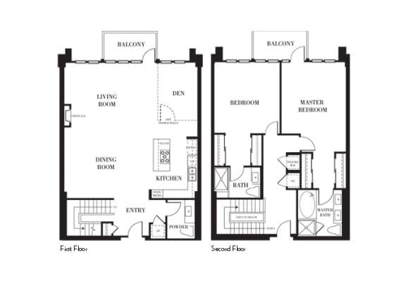 Los Angeles - Penthouse Floorplan at Astoria at Central Park West Apartments